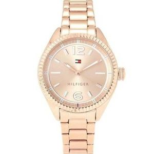 Tommy Hilfiger Womens Rose Gold Sport Casual Watch